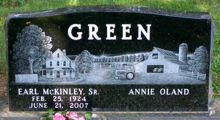 GREEN, EARL MCKINLEY SR. - Frederick County, Maryland | EARL MCKINLEY SR. GREEN - Maryland Gravestone Photos