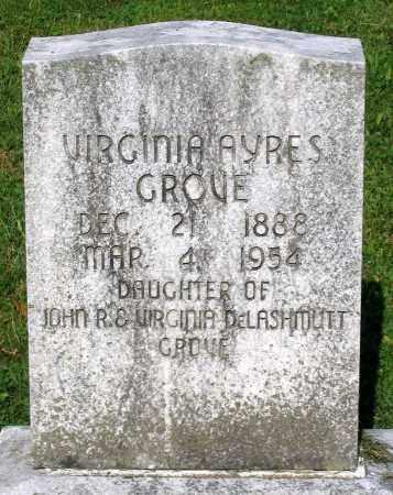 GROVE, VIRGINIA AYRES - Frederick County, Maryland | VIRGINIA AYRES GROVE - Maryland Gravestone Photos