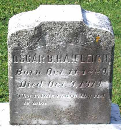 HAIFLEIGH, OSCAR B. - Frederick County, Maryland | OSCAR B. HAIFLEIGH - Maryland Gravestone Photos