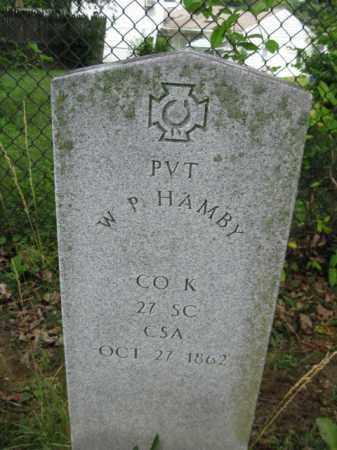 HAMBY (CW), W. P. - Frederick County, Maryland   W. P. HAMBY (CW) - Maryland Gravestone Photos