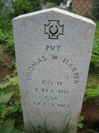HARPER (CW), THOMAS W. - Frederick County, Maryland | THOMAS W. HARPER (CW) - Maryland Gravestone Photos