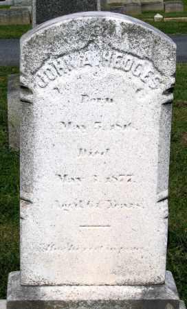 HEDGES, JOHN A. - Frederick County, Maryland | JOHN A. HEDGES - Maryland Gravestone Photos
