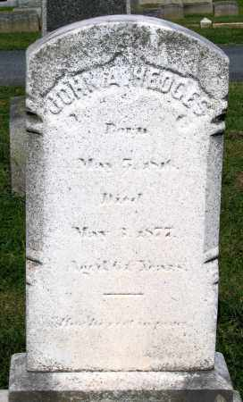 HEDGES, JOHN A. - Frederick County, Maryland | JOHN A. HEDGES - Maryland Gravestone Photos