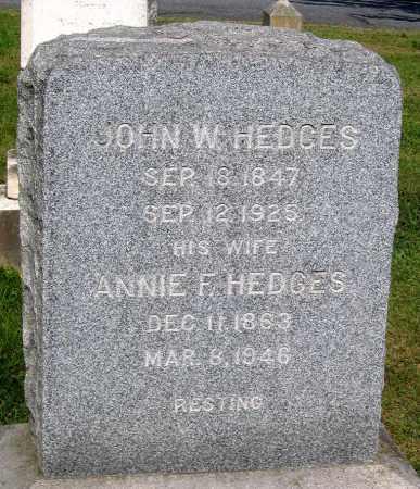 HEDGES, JOHN W. - Frederick County, Maryland | JOHN W. HEDGES - Maryland Gravestone Photos