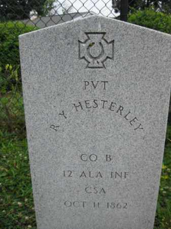 HESTERLEY (HESTERLY) (CW), R. Y. - Frederick County, Maryland | R. Y. HESTERLEY (HESTERLY) (CW) - Maryland Gravestone Photos