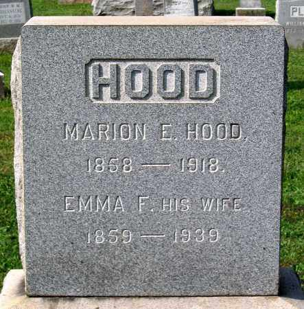 HOOD, MARION E. - Frederick County, Maryland | MARION E. HOOD - Maryland Gravestone Photos