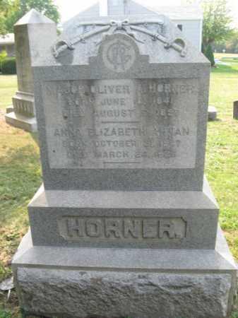 HORNER (CW), MAJOR OLIVER A. - Frederick County, Maryland | MAJOR OLIVER A. HORNER (CW) - Maryland Gravestone Photos