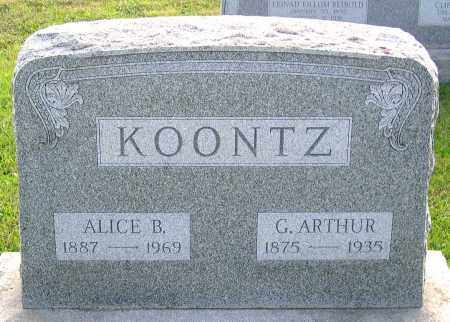 KOONTZ, ALICE B. - Frederick County, Maryland | ALICE B. KOONTZ - Maryland Gravestone Photos