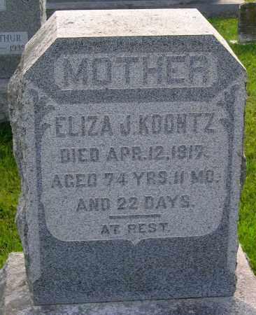 KOONTZ, ELIZA J. - Frederick County, Maryland | ELIZA J. KOONTZ - Maryland Gravestone Photos