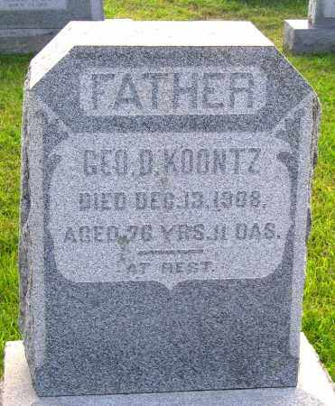 KOONTZ, GEORGE D. - Frederick County, Maryland | GEORGE D. KOONTZ - Maryland Gravestone Photos