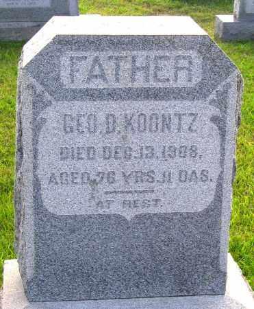 KOONTZ, GEORGE D. - Frederick County, Maryland   GEORGE D. KOONTZ - Maryland Gravestone Photos