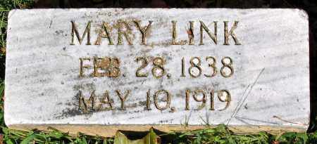 LINK, MARY - Frederick County, Maryland | MARY LINK - Maryland Gravestone Photos