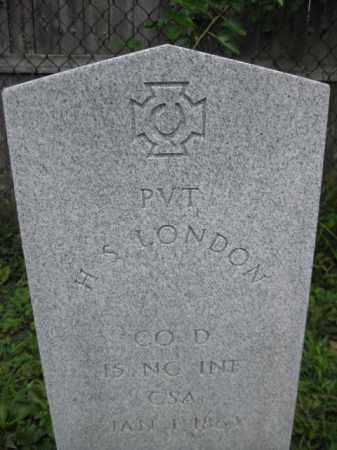LONDON (CW), H.S. - Frederick County, Maryland | H.S. LONDON (CW) - Maryland Gravestone Photos