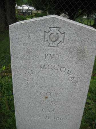MCCOWAN (CW), J.M. - Frederick County, Maryland | J.M. MCCOWAN (CW) - Maryland Gravestone Photos