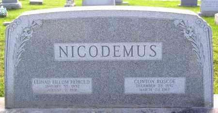 NICODEMUS, CLINTON ROSCOE - Frederick County, Maryland | CLINTON ROSCOE NICODEMUS - Maryland Gravestone Photos