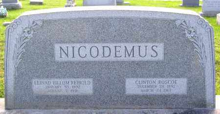 NICODEMUS, CLINTON ROSCOE - Frederick County, Maryland | CLINTON ROSCOE NICODEMUS - Maryland Gravestone Photos