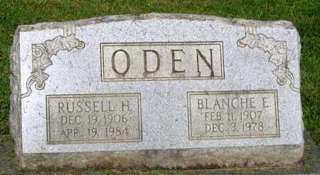 ODEN, RUSSELL H. - Frederick County, Maryland | RUSSELL H. ODEN - Maryland Gravestone Photos