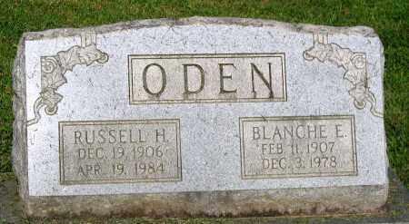 ODEN, BLANCHE E. - Frederick County, Maryland | BLANCHE E. ODEN - Maryland Gravestone Photos