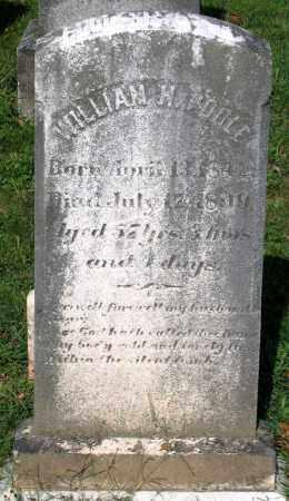 POOLE, WILLIAM H. - Frederick County, Maryland   WILLIAM H. POOLE - Maryland Gravestone Photos