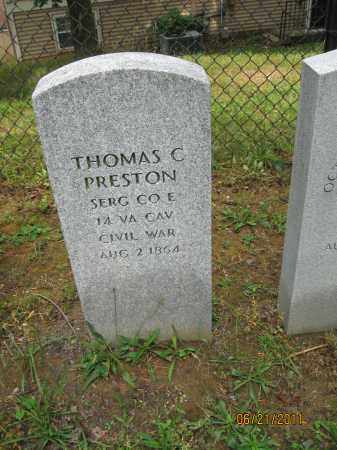 PRESTON (CW), THOMAS C. - Frederick County, Maryland | THOMAS C. PRESTON (CW) - Maryland Gravestone Photos