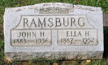 RAMSBURG, ELLA H. - Frederick County, Maryland | ELLA H. RAMSBURG - Maryland Gravestone Photos