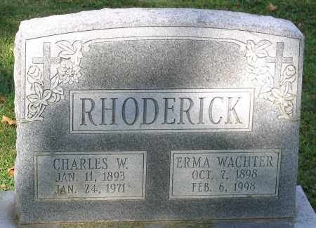WACHTER RHODERICK, ERMA - Frederick County, Maryland | ERMA WACHTER RHODERICK - Maryland Gravestone Photos