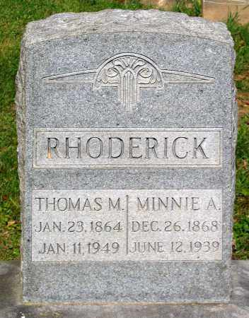 RHODERICK, MINNIE A. - Frederick County, Maryland | MINNIE A. RHODERICK - Maryland Gravestone Photos