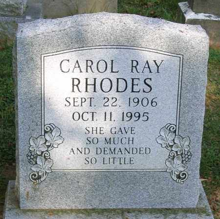 RAY RHODES, CAROL - Frederick County, Maryland | CAROL RAY RHODES - Maryland Gravestone Photos
