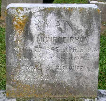 RYAN, EMMA A. - Frederick County, Maryland   EMMA A. RYAN - Maryland Gravestone Photos