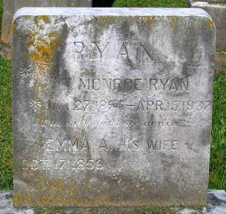 RYAN, T. MONROE - Frederick County, Maryland | T. MONROE RYAN - Maryland Gravestone Photos