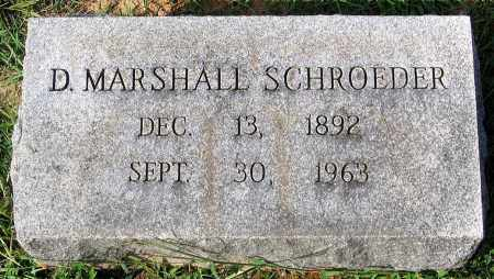 SCHROEDER, D. MARSHALL - Frederick County, Maryland | D. MARSHALL SCHROEDER - Maryland Gravestone Photos