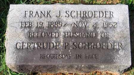 SCHROEDER, FRANK J. - Frederick County, Maryland | FRANK J. SCHROEDER - Maryland Gravestone Photos