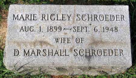 RIGLEY SCHROEDER, MARIE - Frederick County, Maryland | MARIE RIGLEY SCHROEDER - Maryland Gravestone Photos