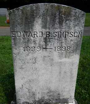 SIMPSON, EDWARD B. - Frederick County, Maryland | EDWARD B. SIMPSON - Maryland Gravestone Photos