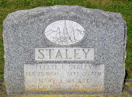 STALEY, FLEETE E. - Frederick County, Maryland | FLEETE E. STALEY - Maryland Gravestone Photos