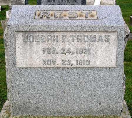 THOMAS, JOSEPH F. - Frederick County, Maryland | JOSEPH F. THOMAS - Maryland Gravestone Photos