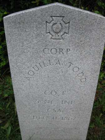TODD (CW), AQUILLA - Frederick County, Maryland | AQUILLA TODD (CW) - Maryland Gravestone Photos
