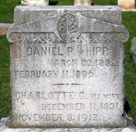 WHIPP, DANIEL P. - Frederick County, Maryland   DANIEL P. WHIPP - Maryland Gravestone Photos