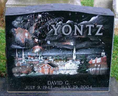 YONTZ, DAVIG G. - Frederick County, Maryland | DAVIG G. YONTZ - Maryland Gravestone Photos