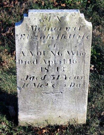 YOUNG, ELIZABETH - Frederick County, Maryland | ELIZABETH YOUNG - Maryland Gravestone Photos
