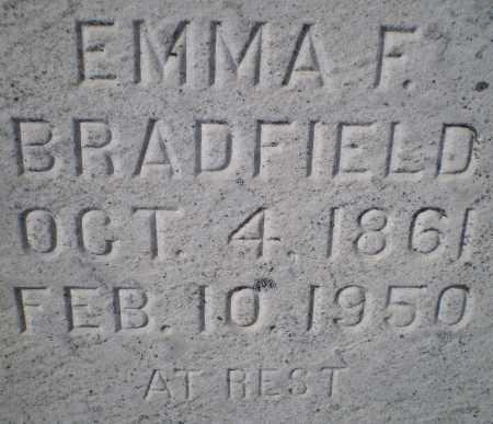 BRADFIELD, EMMA F. - Harford County, Maryland | EMMA F. BRADFIELD - Maryland Gravestone Photos