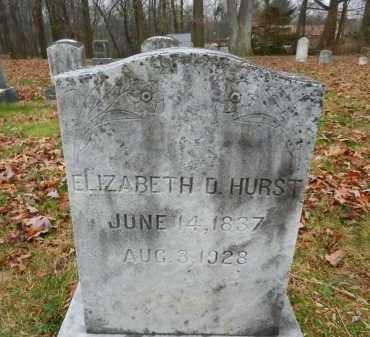 HURST, ELIZABETH D. - Harford County, Maryland | ELIZABETH D. HURST - Maryland Gravestone Photos