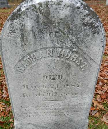 HURST, NATHAN - Harford County, Maryland   NATHAN HURST - Maryland Gravestone Photos