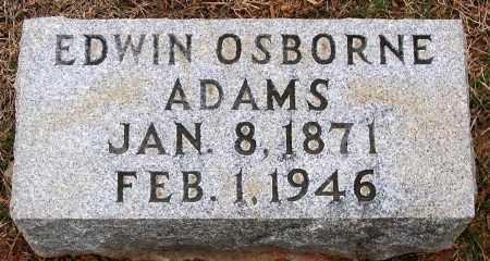 ADAMS, EDWIN OSBORNE - Howard County, Maryland | EDWIN OSBORNE ADAMS - Maryland Gravestone Photos