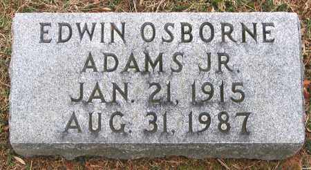 ADAMS, EDWIN OSBORNE JR. - Howard County, Maryland | EDWIN OSBORNE JR. ADAMS - Maryland Gravestone Photos