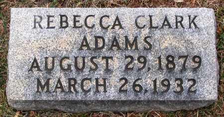 CLARK ADAMS, REBECCA - Howard County, Maryland | REBECCA CLARK ADAMS - Maryland Gravestone Photos