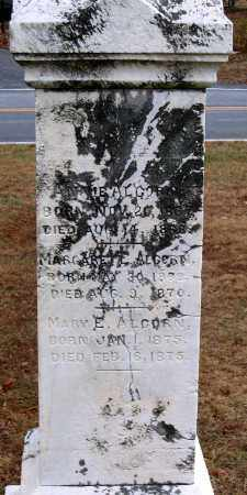 ALCORN, MARY E. - Howard County, Maryland | MARY E. ALCORN - Maryland Gravestone Photos