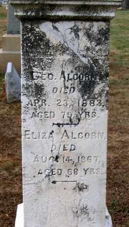 ALCORN, ELIZA - Howard County, Maryland | ELIZA ALCORN - Maryland Gravestone Photos