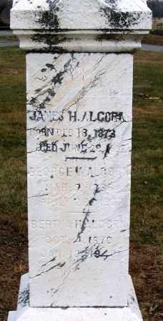 ALCORN, JAMES H. - Howard County, Maryland | JAMES H. ALCORN - Maryland Gravestone Photos