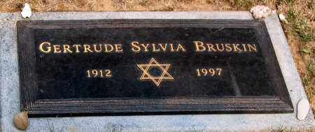 BRUSKIN, GERTRUDE SYLVIA - Howard County, Maryland | GERTRUDE SYLVIA BRUSKIN - Maryland Gravestone Photos